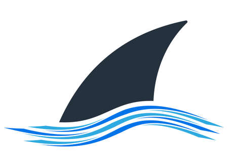 Shark Fin Icon Design Vector Art Illustration