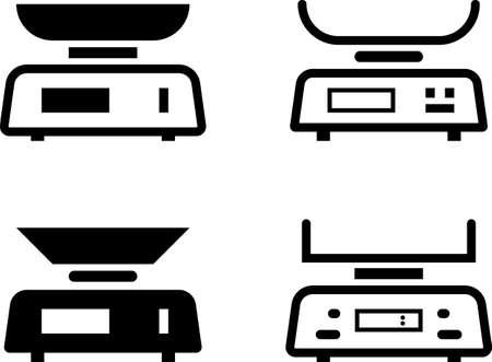 Kitchen Weight Scale Icon Digital Vector Art Illustration Illustration