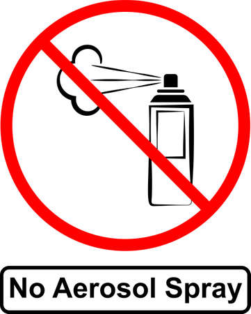 No Aerosol Spray Sign Vector Art Illustration