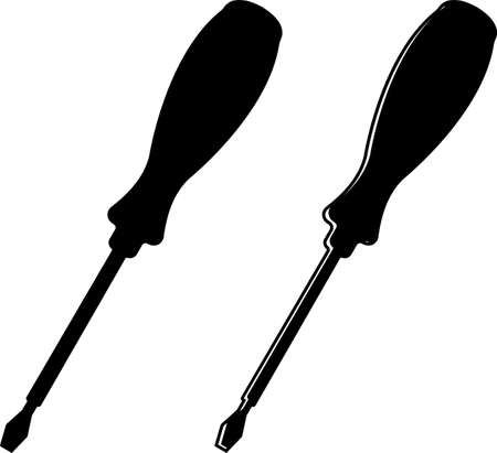 Screwdriver Icon Design, A Tool For Turning (Driving Or Removing) Screws Vector Art Illustration Illustration