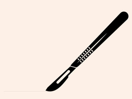 Surgical Scalpel Icon Design Vector Art Illustration  イラスト・ベクター素材