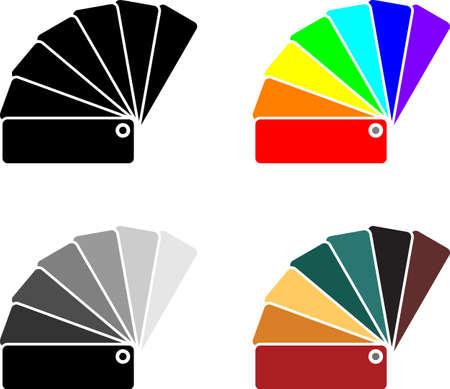 Color Sample Fan Card Icon Vector Art Illustration