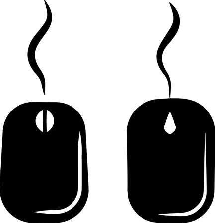 Computer Mouse Icon Vector Art Illustration Vectores