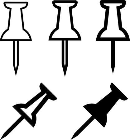 Push Pin Vector Art Illustration Ilustração