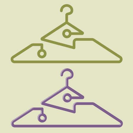 Innovative Cloth Hanger Design, Creative Artistic Vector Art Illustration