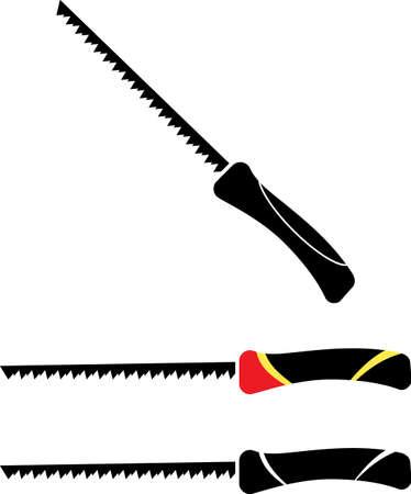 Pad Saw Design icon on different handle Illustration Illustration