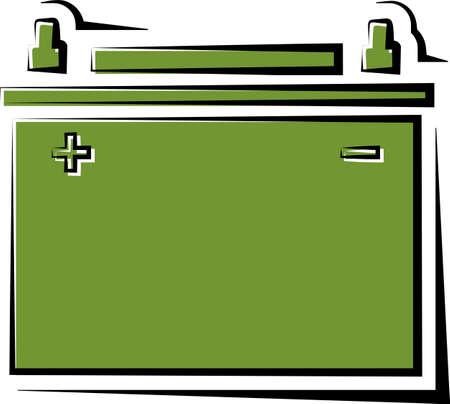 Car Battery Icon, Design Vector Art Illustration