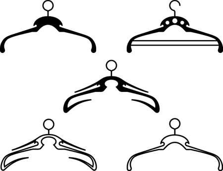 Cloth Hanger Icon Collection Vector Art Illustration Illustration