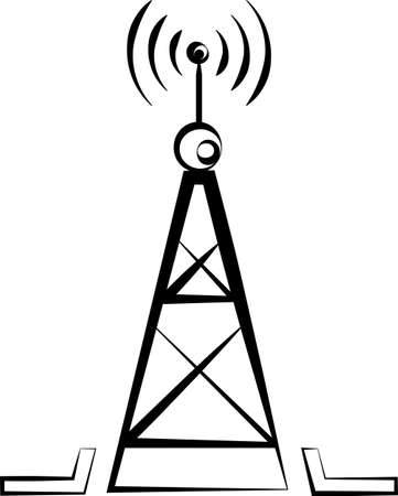 Radio Tower Icon Vector Art Illustration design