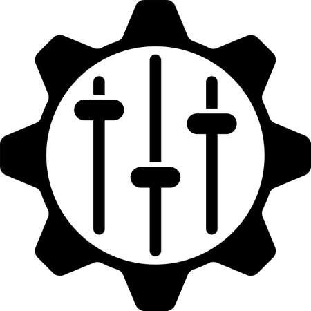 Setting Icon, Gear, User Preference Setting Vector Art Illustration