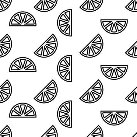 Lemon Icon Seamless Pattern, Lemon Vector Art Illustration Ilustracja
