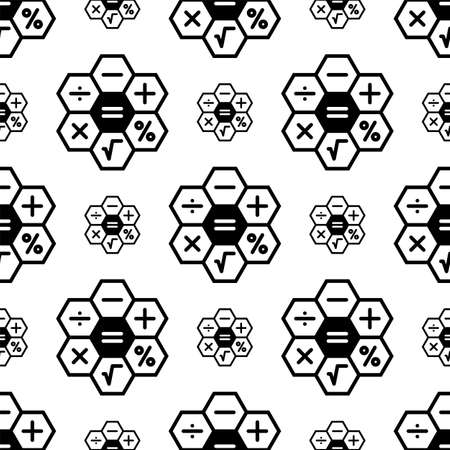 Calculadora icono de patrones sin fisuras, calculadora teclado signo ilustración de arte vectorial Ilustración de vector