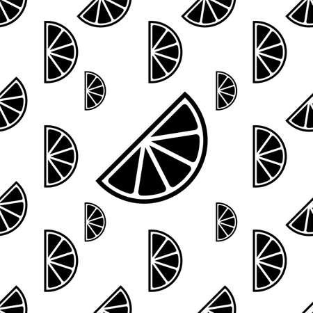 Lemon Icon Seamless Pattern, Lemon Vector Art Illustration 일러스트