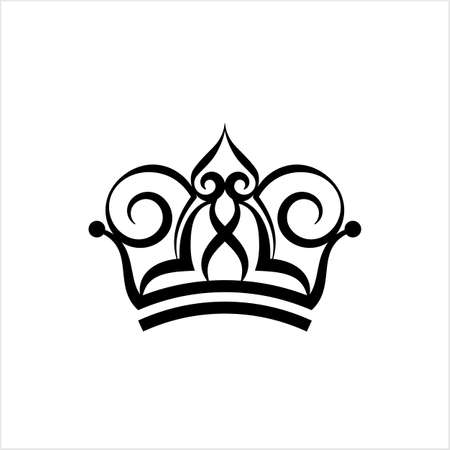 Crown Icon, Crown Vector Art Illustration 矢量图像