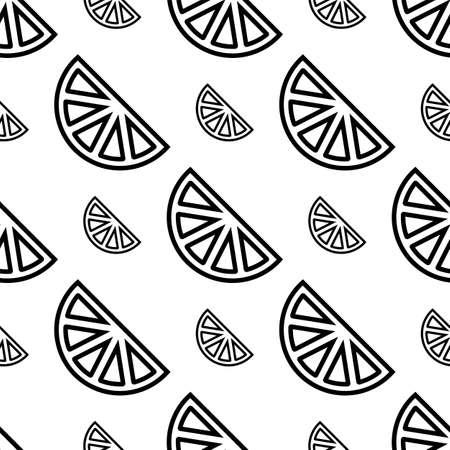 Lemon Icon Seamless Pattern, Lemon Vector Art Illustration 向量圖像