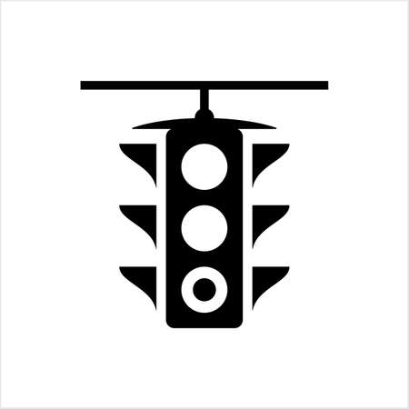 Traffic Light Icon, Traffic Control Light Vector Art Illustration Vettoriali