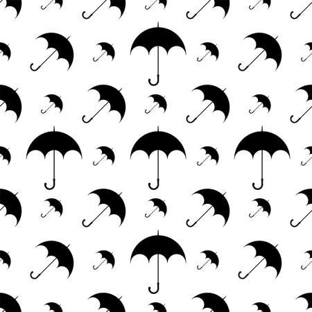 Umbrella Icon Seamless Pattern Vector Art Illustration