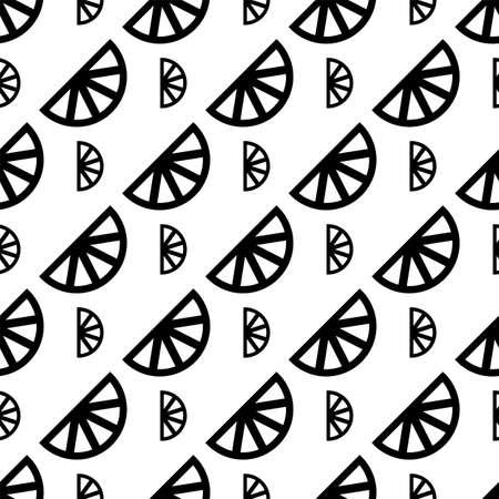 Lemon Icon Seamless Pattern, Lemon Vector Art Illustration