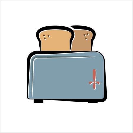 Broodroosterpictogram, Broodrooster Vectorkunstillustratie