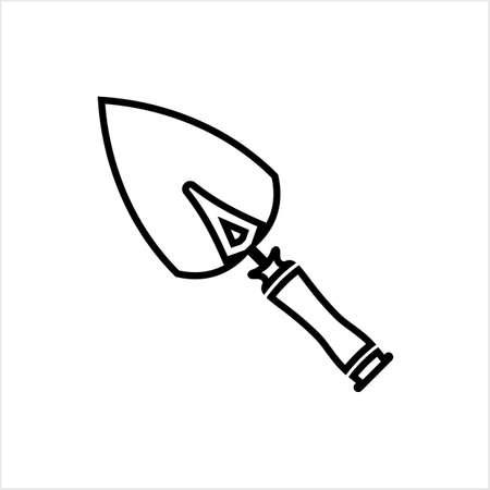 Trowel Icon, Trowel Vector Art Illustration
