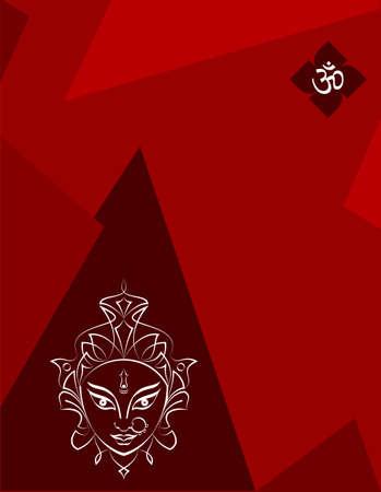 Durga Goddess Of Power, Divine Mother Of The Universe Design Vector Art Illustration Stok Fotoğraf - 117923517