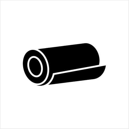 Icona del rotolo, tappetino, tappeto, moquette o rotolo di carta Icona di qualsiasi cosa Vector Art Illustration