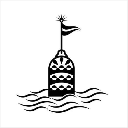 Buoy Icon, Float Buoy Icon Vector Art Illustration