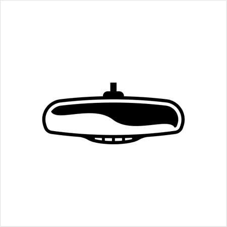 Car Rear View Mirror Icon Vector Art Illustration