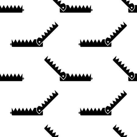 Animal Trap Icon Seamless Pattern, Animal Catching Trap Vector Art Illustration Stock Vector - 126178107