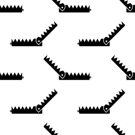 Animal Trap Icon Seamless Pattern, Animal Catching Trap Vector Art Illustration