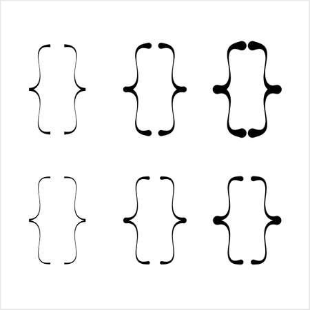 Curly Bracket Icon, Braces Vector Art Illustration