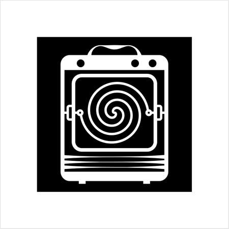 Heater Icon, Heater Vector Art Illustration Ilustracja