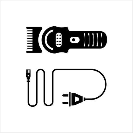 Hair Clipper Icon Vector Art Illustration