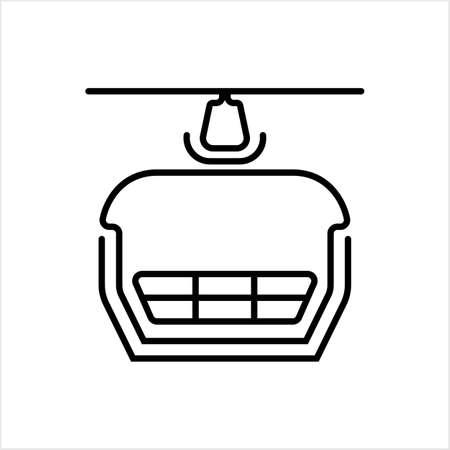 Ski Lift Icon, Aerial Lift Icon Vector Art Illustration