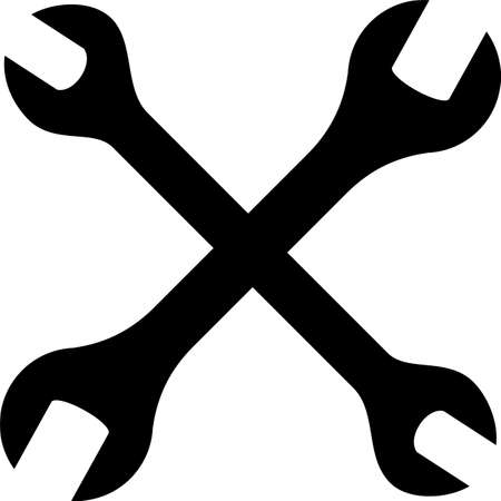 Gabelschlüsselsymbol, Schlüssel-Vektorgrafikenillustration