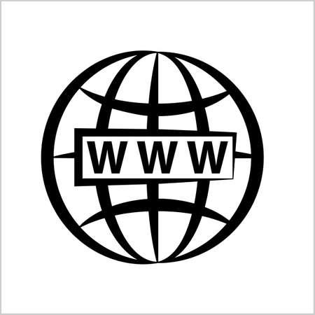 Web Icon, Www Icon Vector Art Illustration Illusztráció