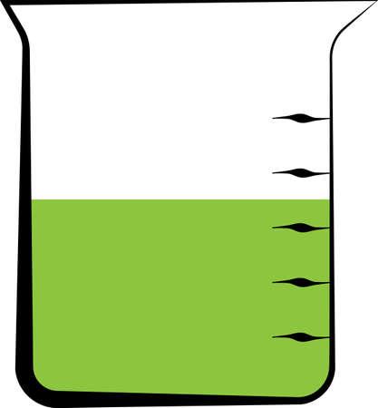 Beaker Icon, Beaker Vector Art Illustration