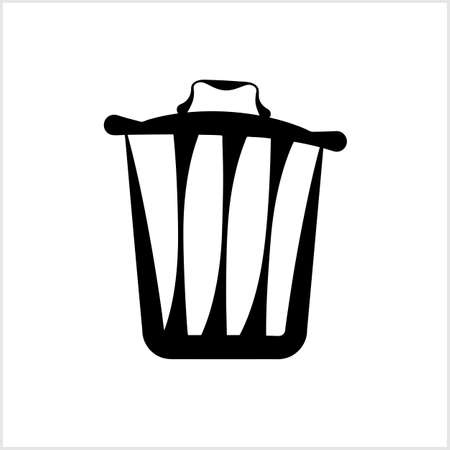 Trash Can Icon Vector Art Illustration