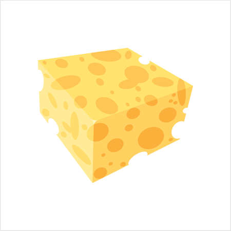 Cheese Icon, Line Art Design, Vector Art Illustration