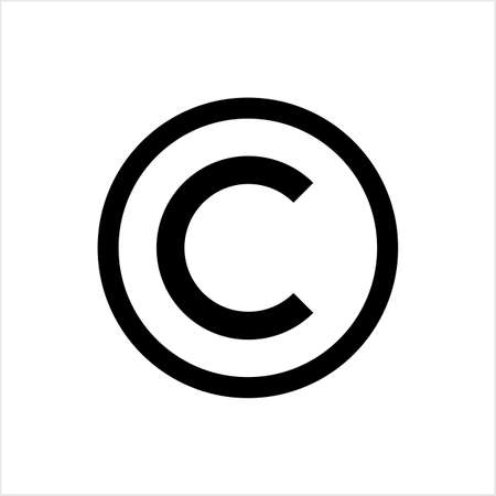 Copyright Icon, Copyright Letter C Symbol Vector Art Illustration 矢量图像