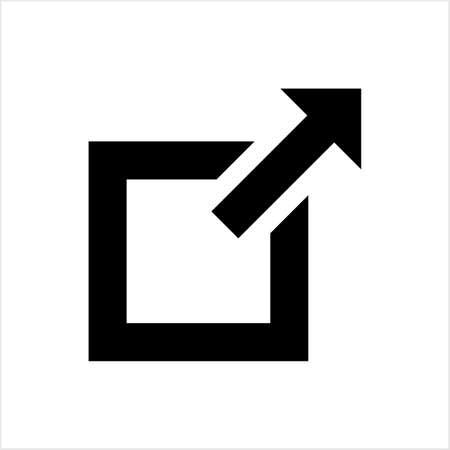 External Link Icon Vector Art Illustration Stock Illustratie
