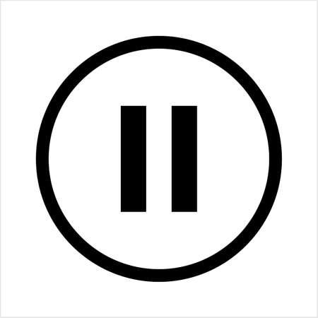 Pause Button Icon Vector Art Illustration Ilustração