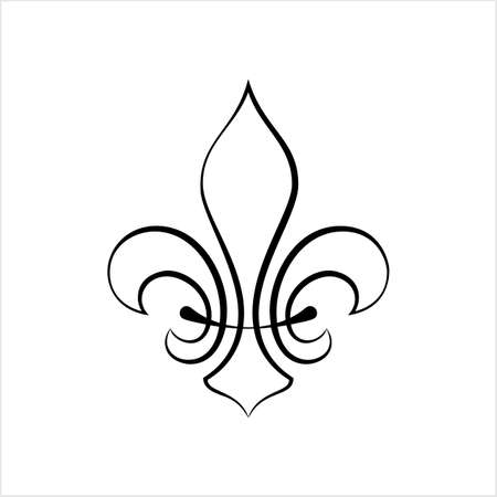 Fleur De Lis, Fleur-De-Lys Or Flower-De-Luce, The Decorative Stylized Lily Vector Art Illustration Stockfoto - 127713634