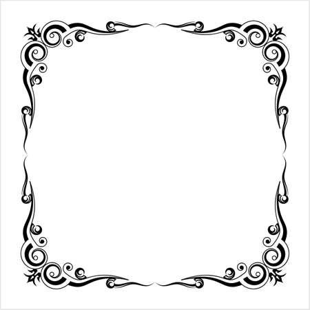 Frame Border Design, Decorative Design Vector Art Illustration