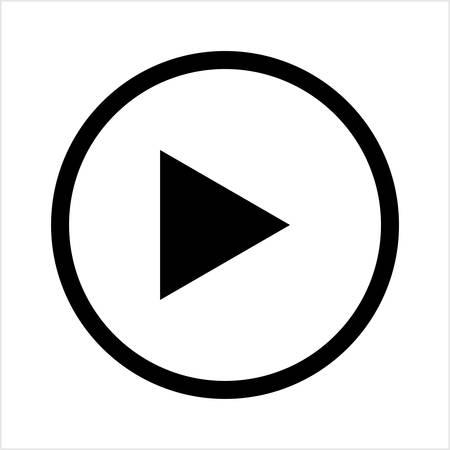 Play Button Icon Vector Art Illustration Stock Illustratie