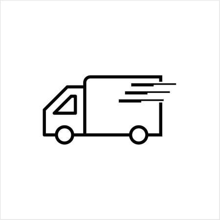 Shipping Truck Icon Vector Art Illustration Stock Illustratie
