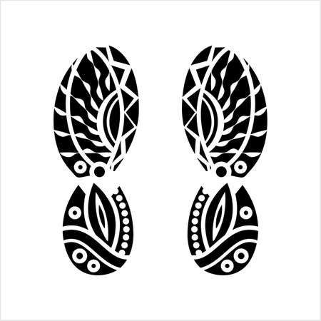 Shoe Outsole Imprint Design Vector Art Illustration 일러스트