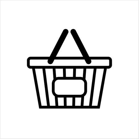 Shopping Basket Icon Vector Art Illustration Illustration