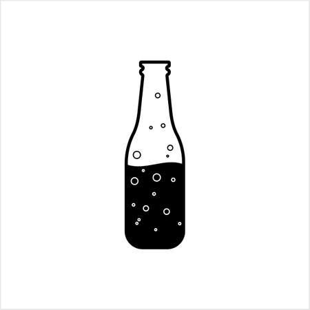 Soda Bottle Icon, Soda Bottle With Straw Vector Art Illustration Stock Illustratie