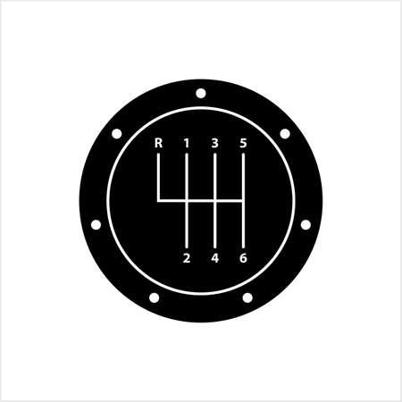 Speed Shifter Icon, Gear Shifter Icon Vector Art Illustration